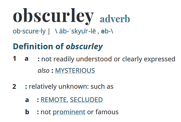 Obscurley band